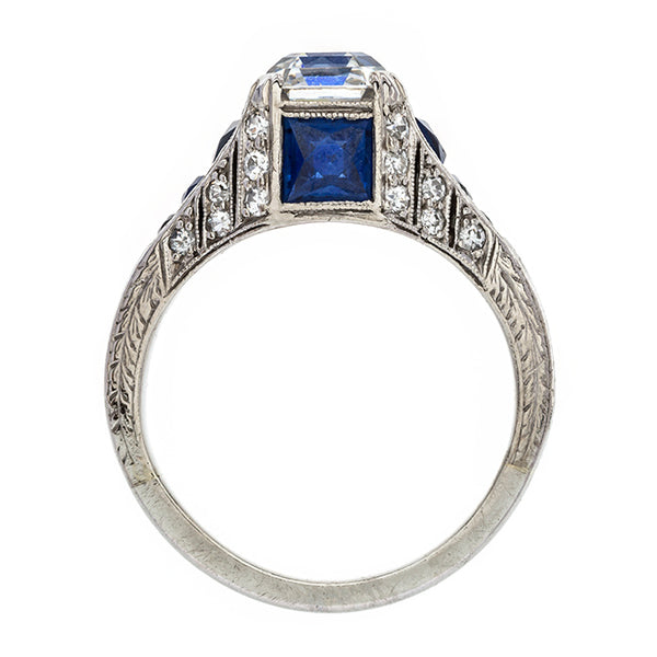 Magnificent Art Deco Asscher Cut Engagement Ring | Cape Cod from Trumpet & Horn