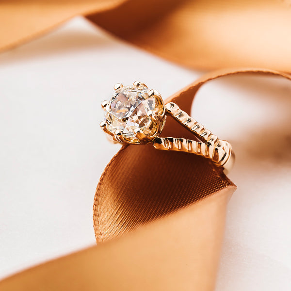 Show-Stopping Old Mine Cut Diamond Engagement Ring | Cape Town from Trumpet & Horn