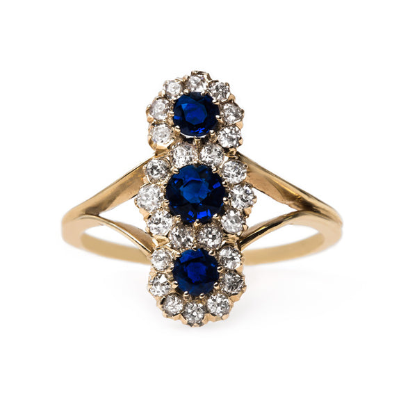 Alluring Vertically Set Sapphire Ring | Capetown from Trumpet & Horn
