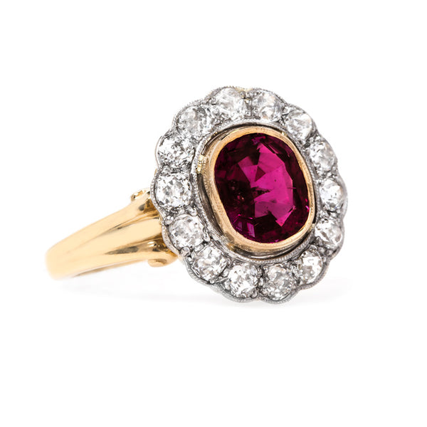 Beautifully Detailed Edwardian Ruby Ring | Cardinal Falls from Trumpet & Horn