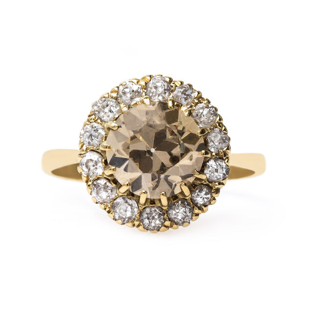 Victorian Era Cluster Ring with Warm Diamond Center | Carnegie Hall from Trumpet & Horn