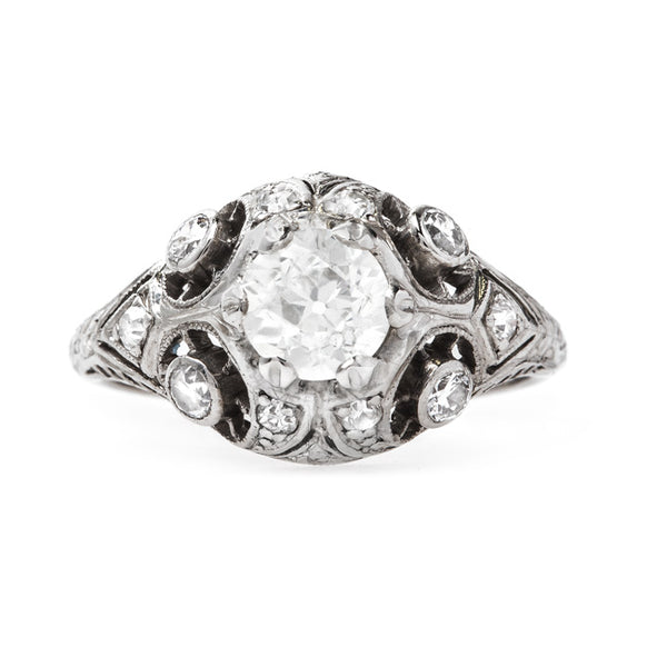 Intricate Edwardian Bombe Style Engagement Ring | Cassidy Park from Trumpet & Horn