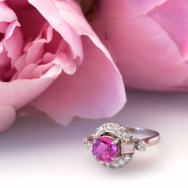 Pink Sapphire Engagement Ring | Create an Unforgettable Memory | Cherry Lane from Trumpet & Horng