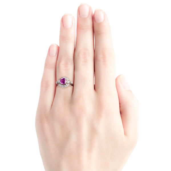 vintage 1950's pink sapphire ringPink Sapphire Engagement Ring | Create an Unforgettable Memory | Cherry Lane from Trumpet & Horn