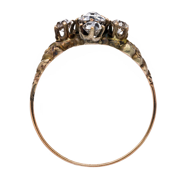 Unique Victorian Antique Ring with Old Mine Cut Diamonds | Chessington from Trumpet & Horn
