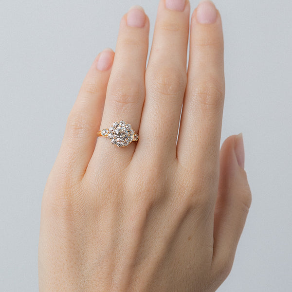 Vintage Rose Gold Halo Ring from Chicago | Chestnut Street from Trumpet & Horn