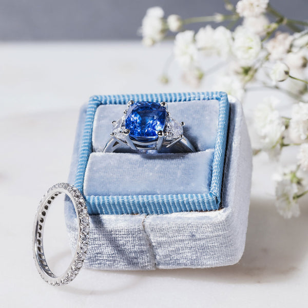 Cornflower Blue Sapphire Engagement Ring | Cienega from Trumpet & Horn