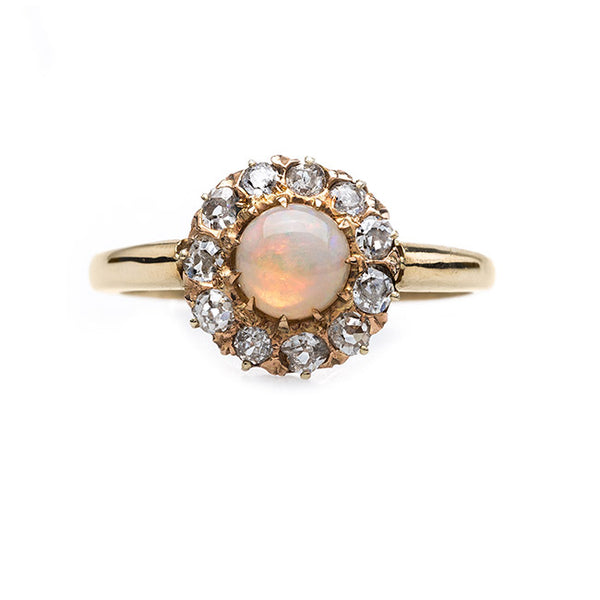 Delightful and Delicate Opal & Diamond Ring | Citrus Grove from Trumpet & Horn