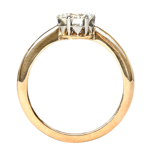 Vintage Gold Simple Solitaire Diamond Engagement Ring