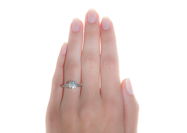 Vintage Engagement Ring | Vintage Three Stone Ring | Clarkton from Trumpet & Horn