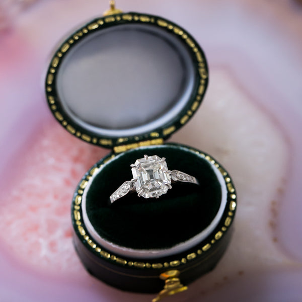 Handcrafted Platinum Engagement Ring with Most Unique Diamond | Windom Lane from Trumpet & Horn