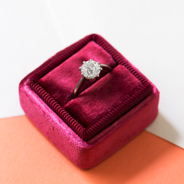 Beautiful Modern Era Platinum Diamond Engagement Ring | Glenoaks from Trumpet & Horn