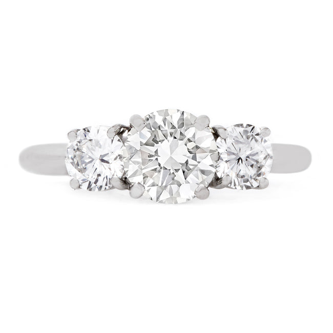 Classically Designed Modern Era Three Stone Ring | Astor Row from Trumpet & Horn