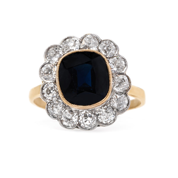 Midnight Blue Sapphire and Diamond Ring | Clearcreek from Trumpet & Horn