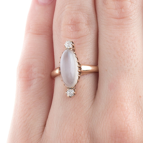 Whimsical Victorian Moonstone Ring | Cloudrest from Trumpet & Horn