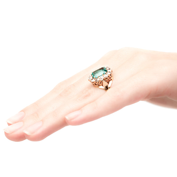 vintage emerald cocktail ring
