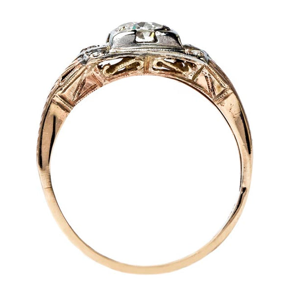 Lovely Mixed Metal Engagement Ring | Cole Valley from Trumpet & Horn