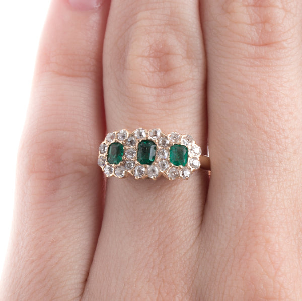 Late Victorian Emerald and Diamond Ring | Columbus Circle from Trumpet & Horn
