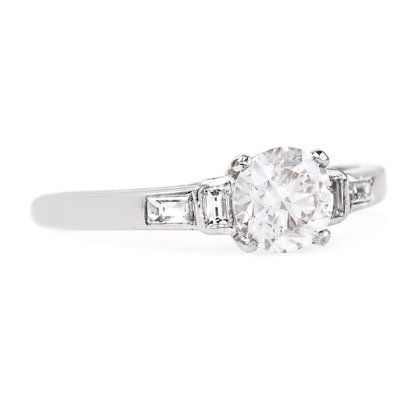 Classic and Refined Platinum Engagement Ring | Cooperstown from Trumpet & Horn