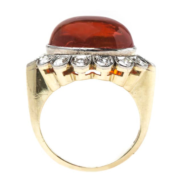 Large Fire Opal Cocktail Ring | Copper Beach from Trumpet & Horn