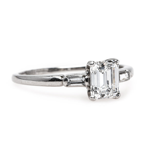 Wonderfully Classic Mid-Century Engagement Ring with Sparkling White Diamond | Covington from Trumpet & Horn