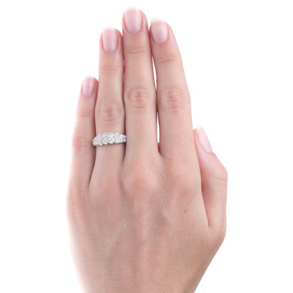 Glittering Double Band Platinum Engagement Ring | Crayford – Trumpet ...