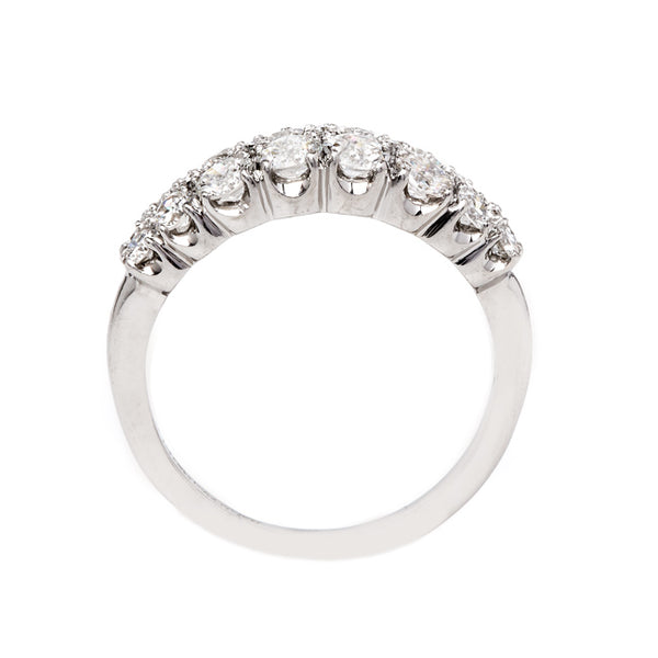 Glittering Double Band Platinum Engagement Ring | Crayford from Trumpet & Horn