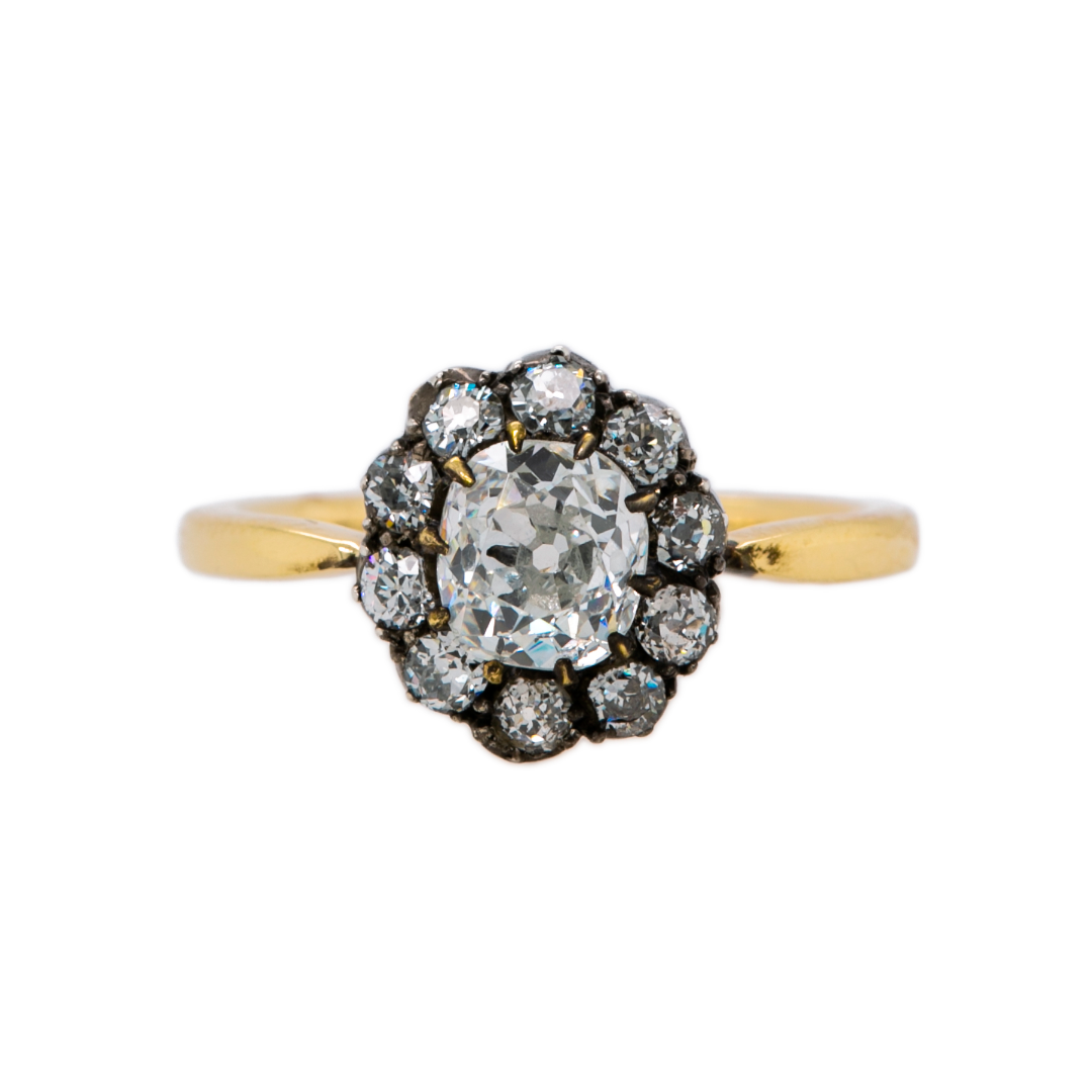 Beautiful and Moody Antique Diamond Engagement Ring | Crestmoore at Trumpet & Horn
