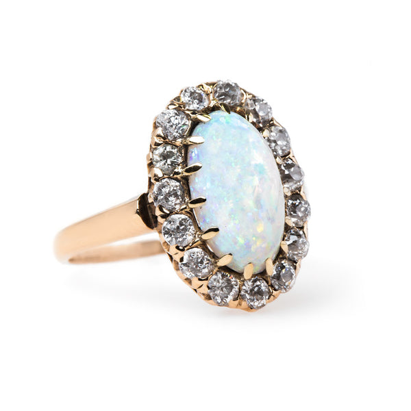 Alluring Victorian Era Opal Halo Ring | Crestwood from Trumpet & Horn