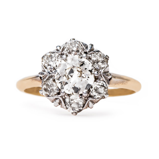 Victorian Era Halo Engagement Ring | Creswell from Trumpet & Horn