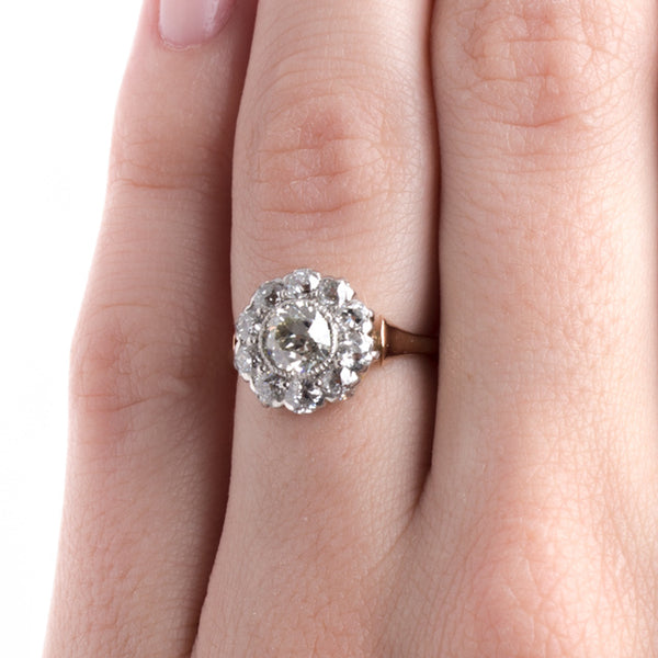 Traditional Victorian Era Diamond Cluster Halo Engagement Ring | Cromwell from Trumpet & Horn