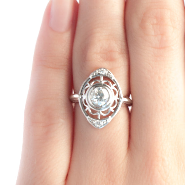 Dahlia vintage Art Deco ring from Trumpet & Horn