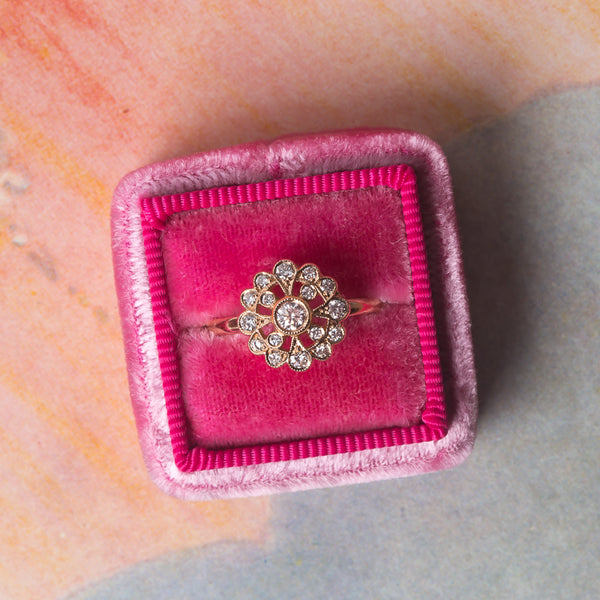 Glittering Vintage Inspired Diamond Ring | Daisy from Trumpet & Horn