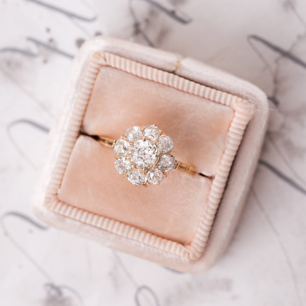 Classic Victorian Rose Gold Cluster Ring | Desert Rose from Trumpet & Horn