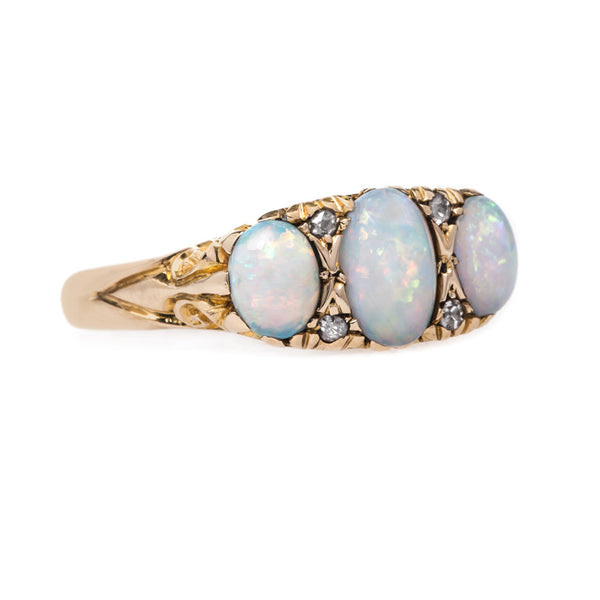 Antique Victorian Opal Ring with English Hallmarks | Devonshire Lakes from Trumpet & Horn
