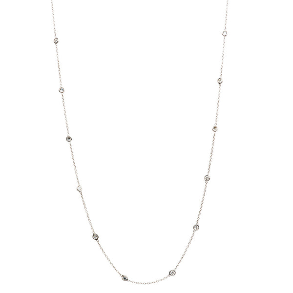 Vintage Inspired Diamond and Platinum Chain