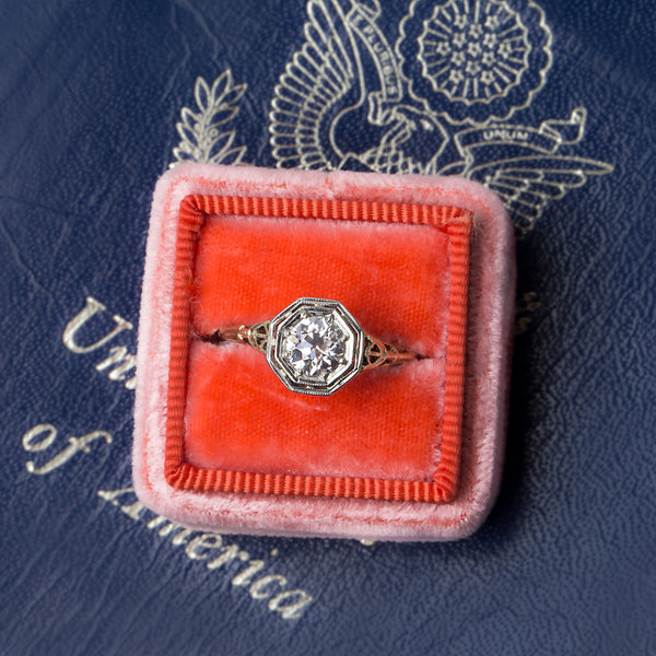 Beautifully Detailed Handmade Edwardian Engagement Ring | Dorchester from Trumpet & Horn