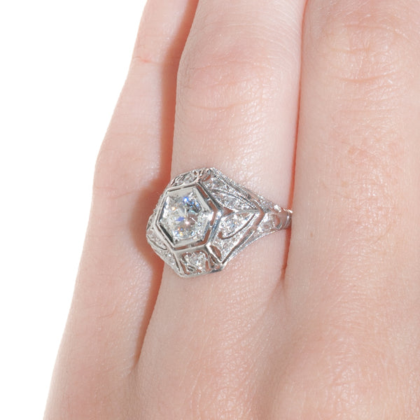 Art Deco Engagement Ring | Dunwoody from Trumpet & Horn