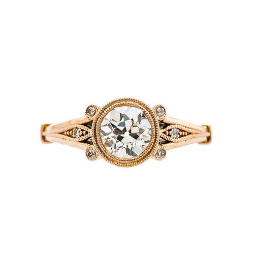 Art Nouveau Inspired Engagement Ring | Earlmar Drive