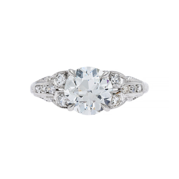 Perfect Diamond Art Deco Ring