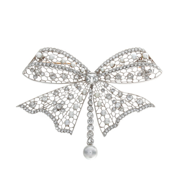 filigree diamond pin