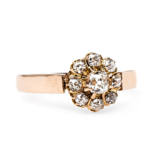 Striking Victorian Cluster Engagement Ring | Elysees from Trumpet & Horn