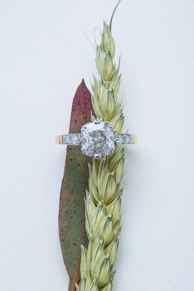 Empire State | Edwardian Engagement Ring Vintage Engagement Ring