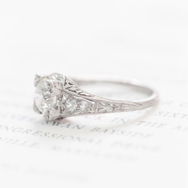 Vintage Edwardian Diamond Engagement Ring | Fairbell from Trumpet & Horn