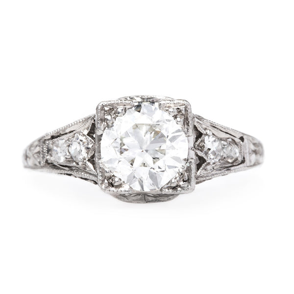 Vintage Art Deco Era Engagement Ring | Mount Rainier from Trumpet & Horn