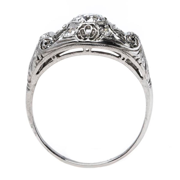 Impeccable Edwardian Era Engagement Ring with Incredibly White Diamond | Fairmont from Trumpet & Horn