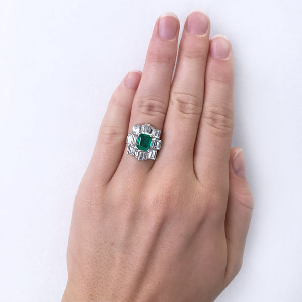 Exceptionally Unique Emerald and Diamond Ring | Fallbrook from Trumpet & HornExceptionally Unique Emerald and Diamond Ring | Fallbrook from Trumpet & Horn
