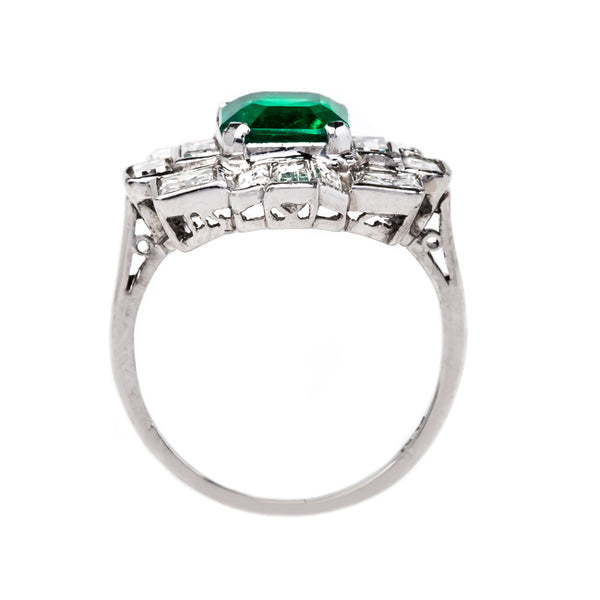 Exceptionally Unique Emerald and Diamond Ring | Fallbrook from Trumpet & Horn
