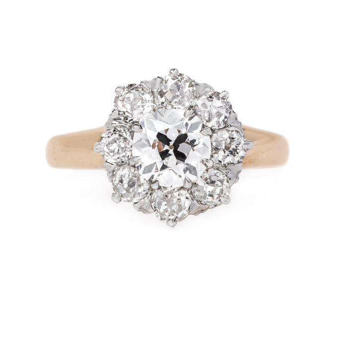 GIA Certified Victorian Halo Ring | Fern Valley from Trumpet & Horn