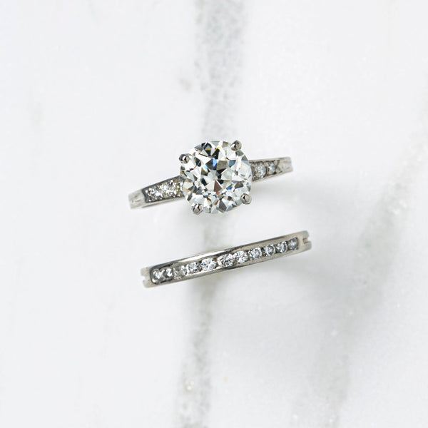 Authentic Art Deco Signed Tiffany Diamond Engagement Set | Fifth Avenue